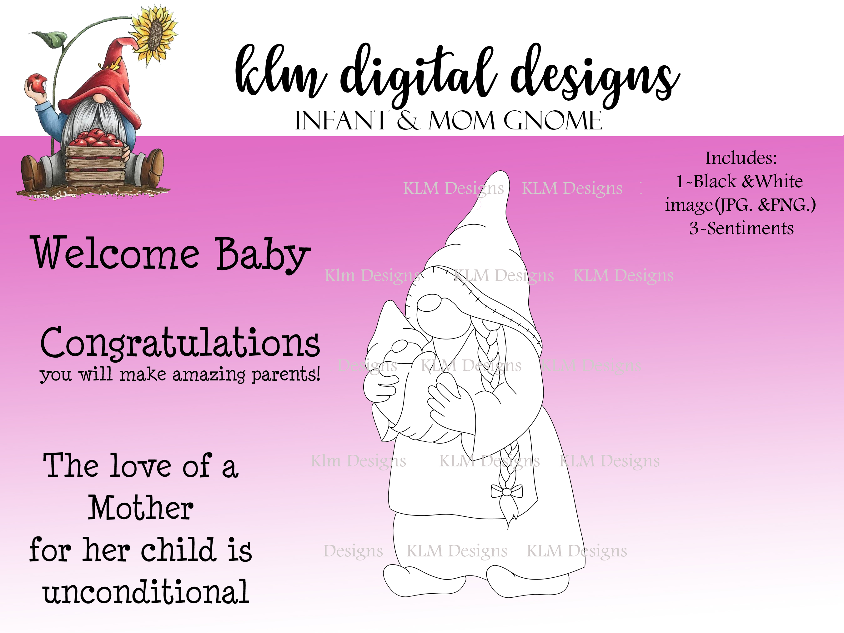 Infant and Mom Gnome disp